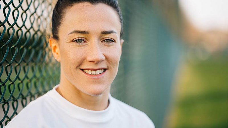 Lucy Bronze smiling at the camera.